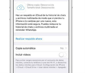 Restaurar conversaciones en Apple