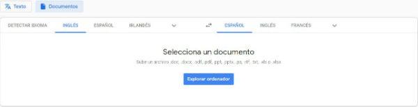 Traducción de un archivo PDF con Google Translate